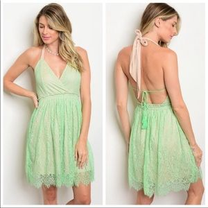 Dresses & Skirts - 🆕 Sexy Lacy Mint Color Summer Dress 💚 NWT